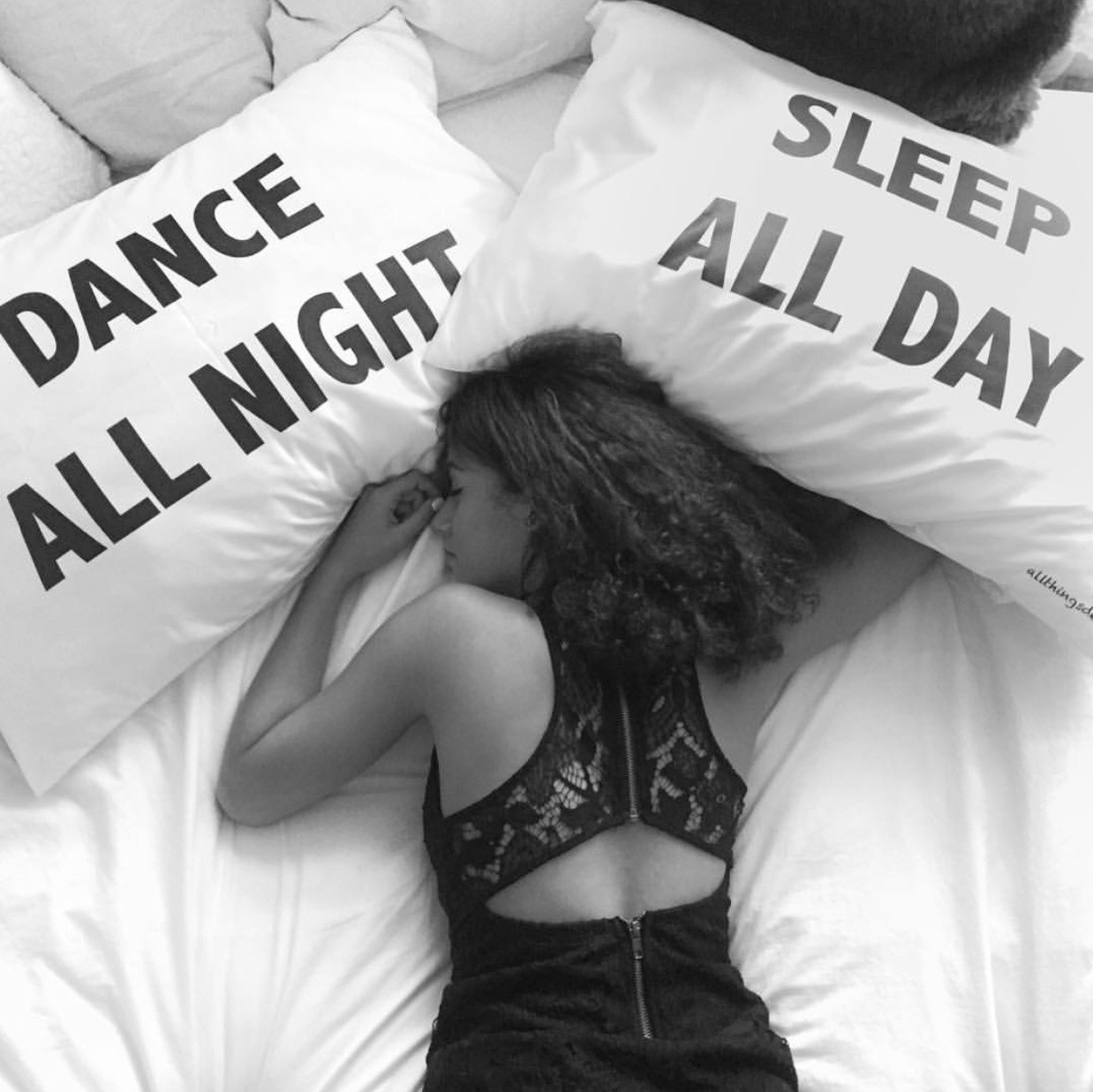 Sleep All Day Dance All Night Bedding