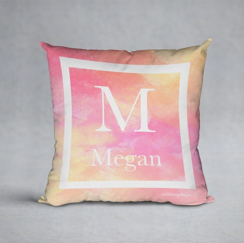 pink hues pillow
