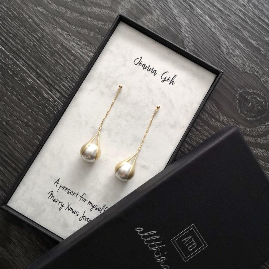 dainte pearl earrings