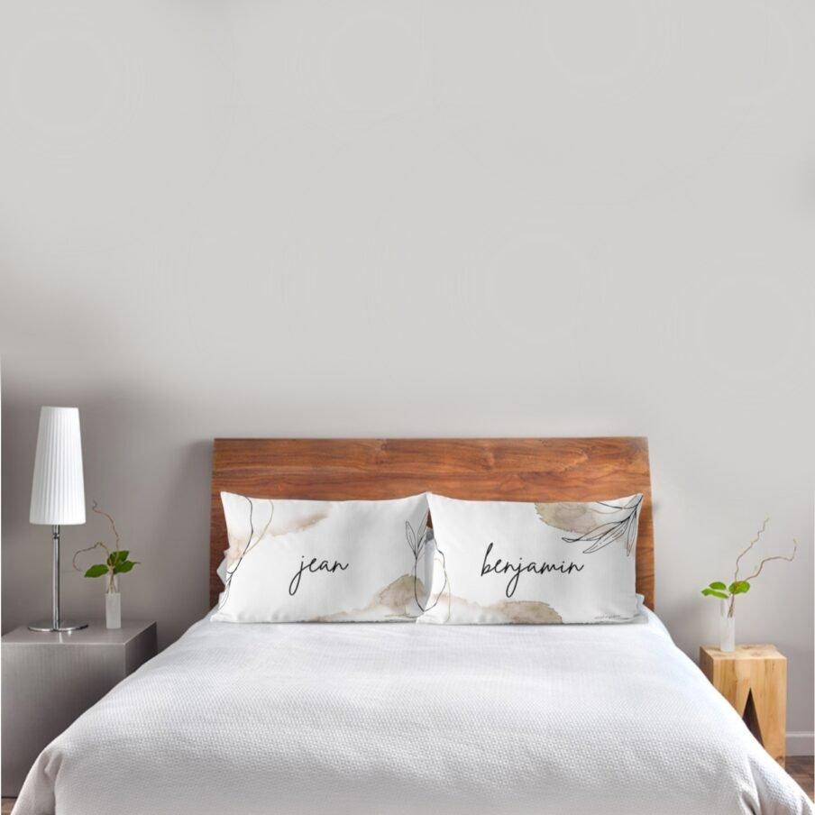 new beginnings pillowcase white